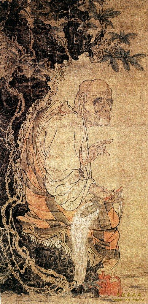 贯休:16罗汉图,五代画僧