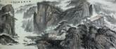 (已售)吴山 中央美院 小八尺国画山水画《溪山秋色》