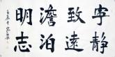 王守义(中国书协会员)四尺横幅 行书法《宁静致远淡泊明志》