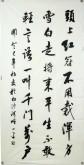 (已售)王平 四尺竖幅书法《画鸡》头上红冠不用裁