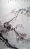 (已售,预订)隋晓玲(天津美院研究生)国画动物画 六尺三裁 猴
