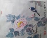(已售,预订)隋晓玲(天津美院研究生)国画花鸟画 四平尺斗方 雀鸟