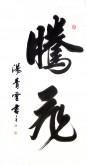 汤青云 湖北书协 国画行书法 四尺横幅《腾飞》