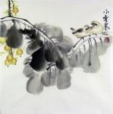 (已售)石泉 国画花鸟画小品 小尺寸35 小果实雀鸟