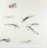 (已售)石泉 国画花鸟画小品 小尺寸22 鱼