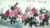 金进之 六尺横幅《春光无限好》国画牡丹画13