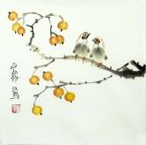 石泉 国画花鸟画小品 小尺寸2-2 小果实