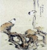 (已售)李大庆(中国美协会员)国画花鸟画 三尺斗方精品小尺寸