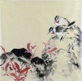 (已售)李大庆(中国美协会员)国画花鸟画 精品小尺寸小品5