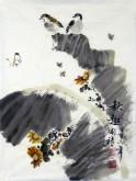 胡开喜 国画写意花鸟画  小尺寸《秋趣》