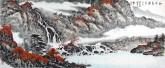 (已售)蓝国强 小六尺横幅 国画山水画《秋清泉气香》