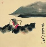 (询价)肖映梅(中国美协)国画花鸟画 四尺斗方《鸳鸯戏水》