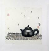 张永军(辽宁美协会员)国画苶壶,小品斗方5