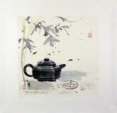 张永军(辽宁美协会员)国画苶壶,小品斗方2