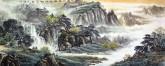 卢峰 国画风水聚宝盆山水画 小六尺《水际时独往》