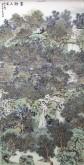 (已售)丁步广(河南美协)国画山水画 四尺竖幅《翠微人家》