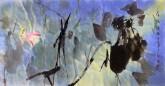(已售)武文博 四尺横幅 国画写意花鸟画荷花《荷塘清趣》