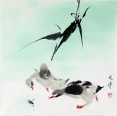 (已售)武文博(刘存惠弟子) 国画写意花鸟画 小尺寸小品《鸭子》