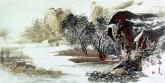 王杰(山东美协)国画山水画 三尺横幅《秋图》