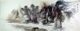 王杰(山东美协)国画山水画 小六尺横幅《黄山秋韵图》