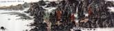 (已售)王本杰(中国美协会员)国画山水画 六尺对开《秋江无尽》