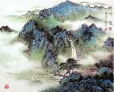 华卧石 国画山水画 60*75cm《晴川揽胜》