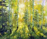 (已售)刘倩 布面油画 创作作品50*60cm 风景画 树林