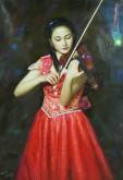 朝鲜油画 申永成(功勋艺术家)108*73cm 布面油画 人物5