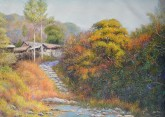 (已售)朝鲜油画 金希灿(一级画家)73*98cm 布面油画 故乡16