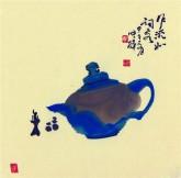 【询价】肖映梅(中国美协)国画花鸟画 小品斗方 茶壶5y