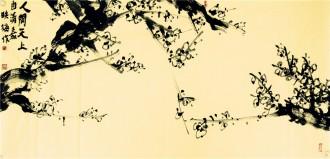 肖映梅(中国美协)国画花鸟画 四尺横幅《人间天上》梅花y