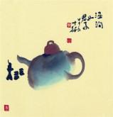 【询价】肖映梅(中国美协)国画花鸟画 小品斗方 茶壶6y