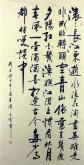 (预定)汤青云 湖北书协 国画行书法 四尺竖幅《滚滚长江东逝水》