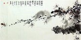 (已售)薛大庸(一级美术师)国画动物松鼠画 三尺横幅《玲珑乖巧眼闪光》