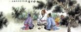 胡得福 国画人物 小六尺《松风茶香图》8