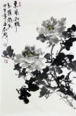 郝众声(中国美协会员) 国画写意牡丹《东风和畅》69*44cm