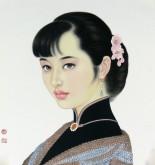 (已售)张元明 国画工笔人物画 小品34*37