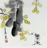 石泉 国画花鸟画小品 小尺寸斗方4-2