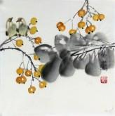 石泉 国画花鸟画小品 小尺寸斗方4-35小果实