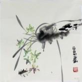 石泉 国画花鸟画小品 小尺寸斗方4-33兰花