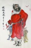 李尤(北京美协)国画人物画 四尺三开《恨福来迟》钟馗