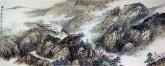 李尤(北京美协)国画山水画 小六尺横幅《满山青翠溢芳香》