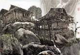 喻湘龙(中国美协会员、广西艺术学院教授) 国画山水画《写生作品》四尺三开