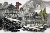 喻湘龙(中国美协会员、广西艺术学院教授) 国画山水画《写生作品2》四尺三开