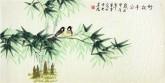 凌雪 三尺横幅 国画花鸟画《竹报平安》竹子1-108