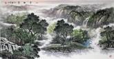 【询价】华卧石 国画山水画 四尺横幅《山亭幽翠》