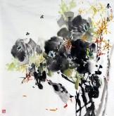 武文博 四尺斗方 国画写意花鸟画 牡丹《春之声》
