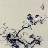 李大庆(中国美协会员)国画花鸟画 精品小尺寸小品2