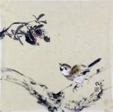 李大庆(中国美协会员)国画花鸟画石榴 精品小尺寸小品
