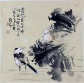 李大庆(中国美协会员)国画花鸟画 精品小尺寸 荷花鸟1